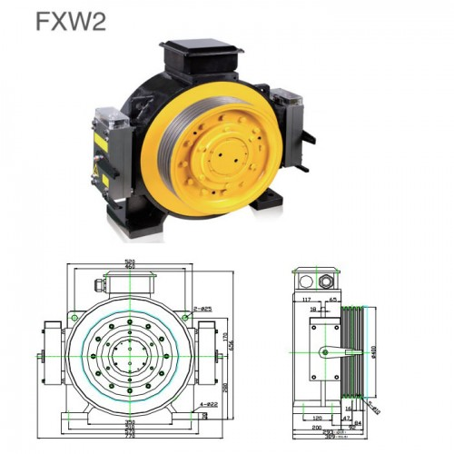 GEARLESS TRACTION MACHINE FXW2