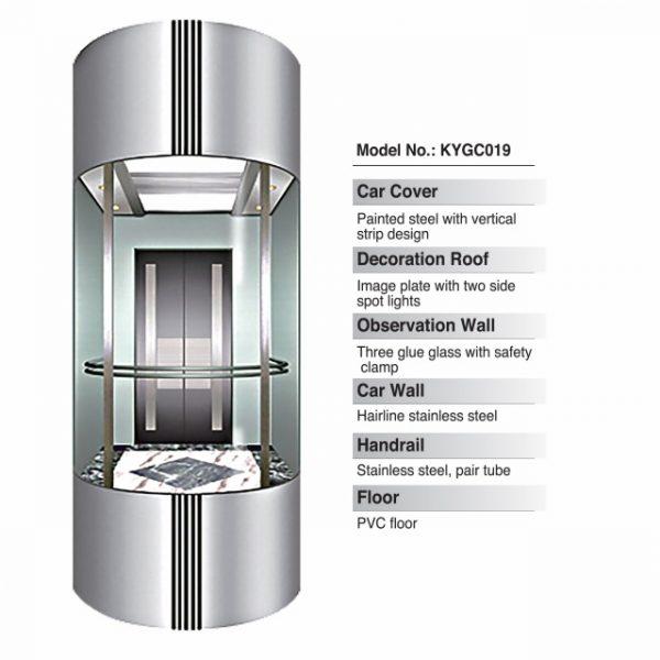 Panoramic Elevator Standar Cabin