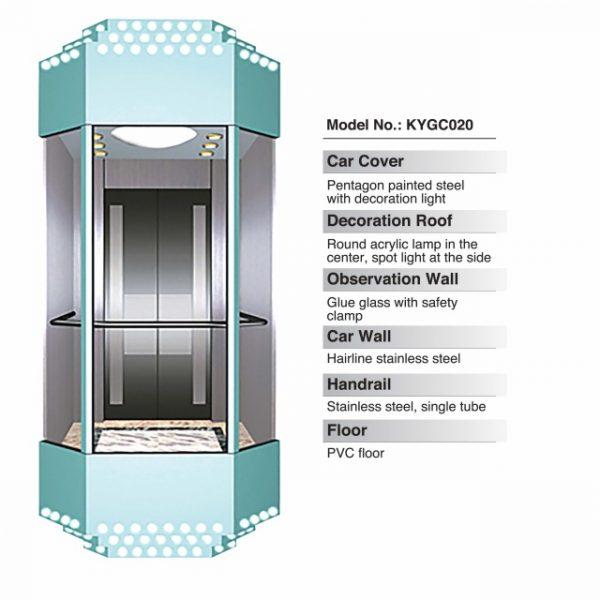 Panoramic Elevator Standard Cabin
